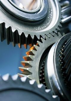 Getriebemetallräder drehen sich