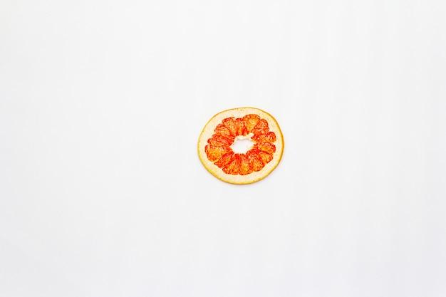 Getrocknete grapefruitscheibe