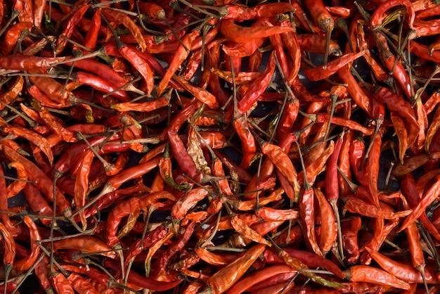 Getrocknete rote chili-wand