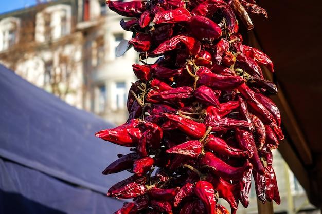 Getrocknete rote chilischoten