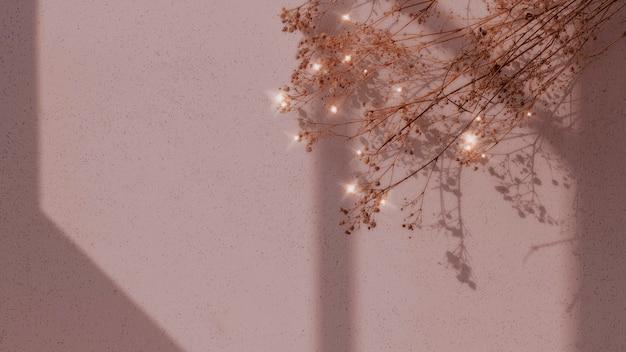 Getrockneter blumenfensterschattenblumenbildhintergrund