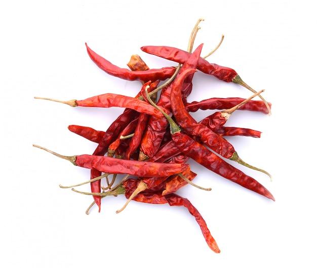 Getrockneter chili isoliert