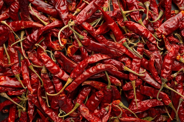 Getrockneter roter chili-hintergrund