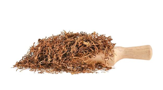 Getrockneter tabak isoliert