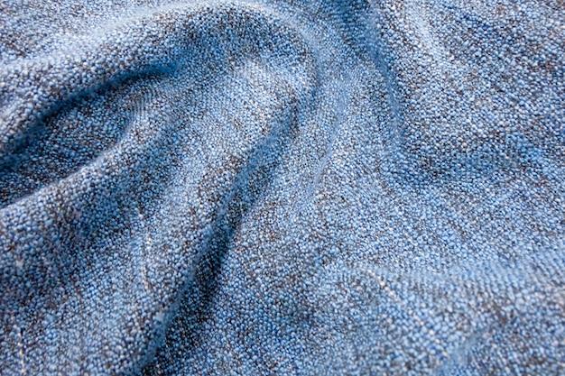 Gewebe-beschaffenheit, abschluss oben des blauen gemütlichen decken-gewebe-beschaffenheits-musters.