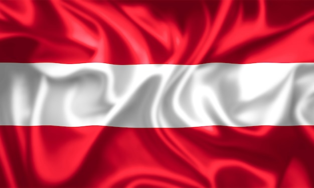 Gewebebeschaffenheit der flagge von österreich.