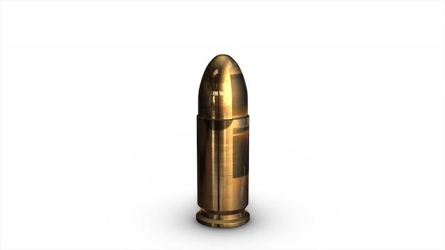 Gewehrkugel isoliert
