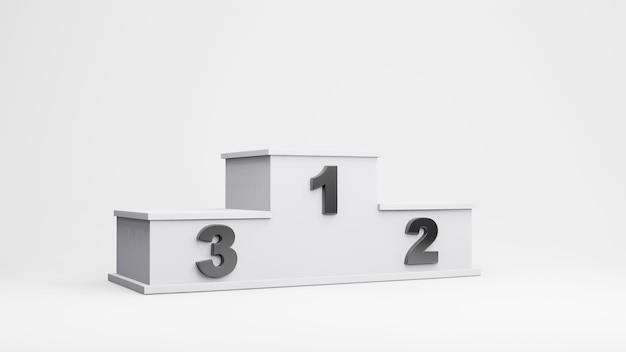 Gewinner podium illustration, 3d-rendering