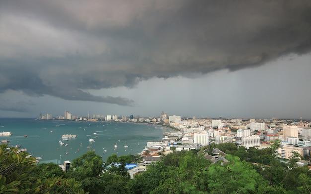 Gewitterwolken und regen
