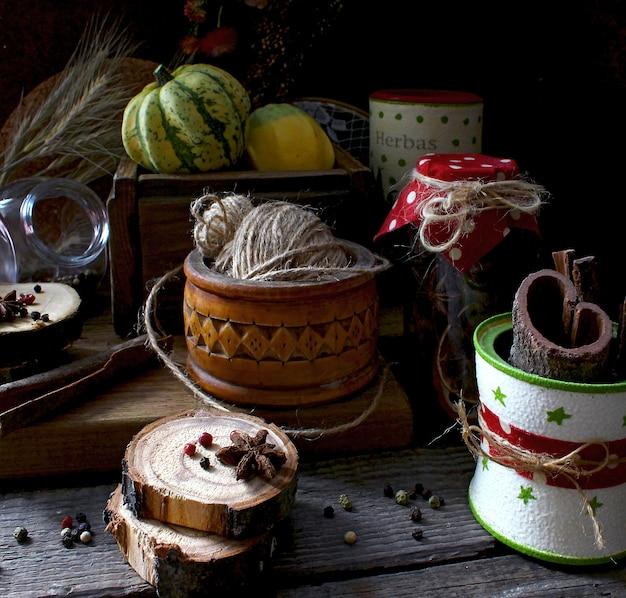 Gewürze rustikale küche