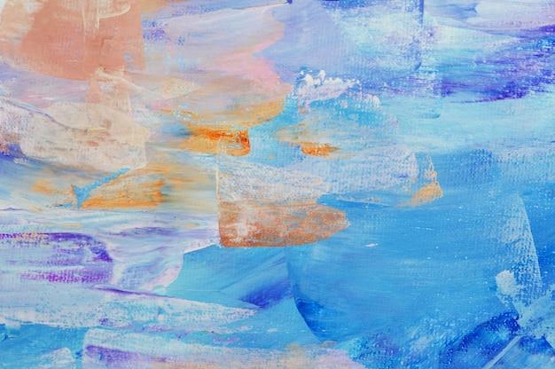 Gezeichnete acrylmalerei des hintergrundes der abstrakten kunst hand