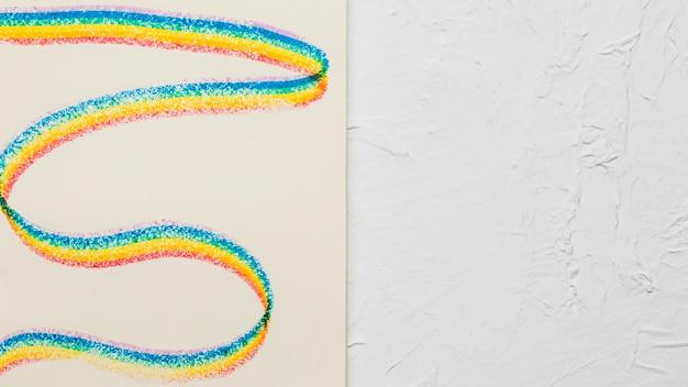 Gezeichnete wellenförmige streifen in lgbt-farben