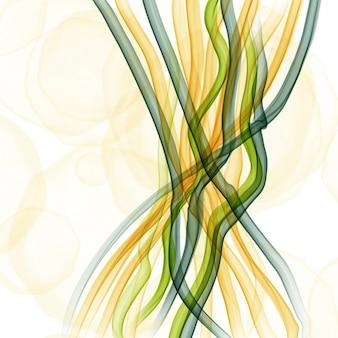 Gezeichneter aquarell- oder alkoholtintenhintergrund des sommers abstrakte hand in den grünen und gelben tönen. trendiger stil. perfekt für die polygraphie. raster-darstellung.
