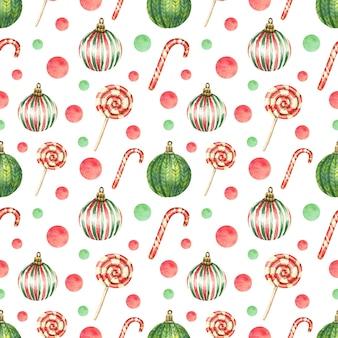 Gezeichneter weihnachtshintergrund mit hellen kugeln des weihnachtsbaums
