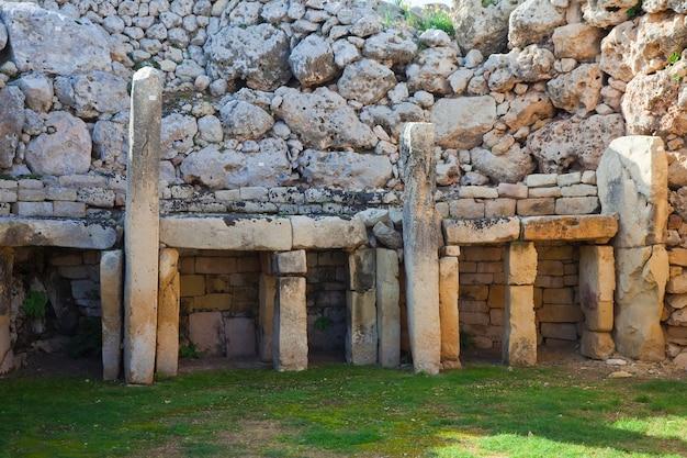 Ggantija neolithische tempel (3600 v. chr.)