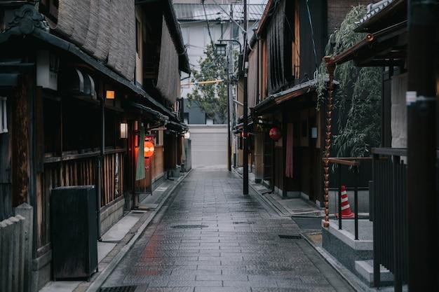 Gion kyoto downtown städtischer gehweg