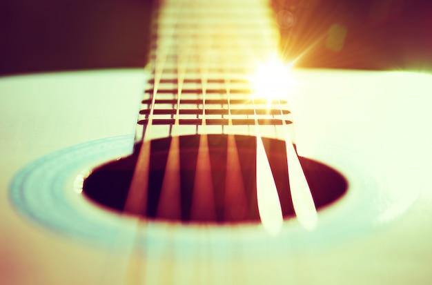 Gitarren saiten konzept