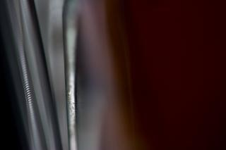 Gitarrensaiten closeup, instrument