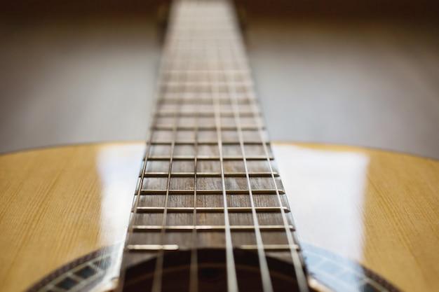 Gitarrensaiten nahaufnahme