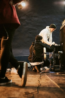Gitarrist mit dem soundsystem