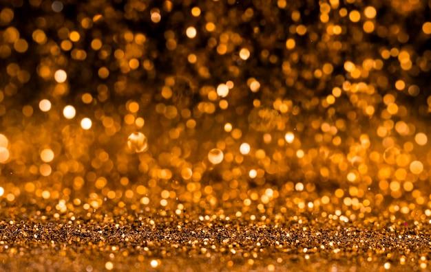 Glänzend goldener glitzer