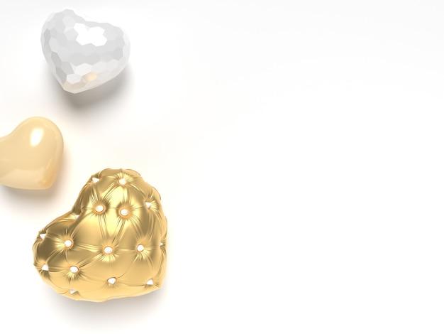 Glänzende und goldene herzen