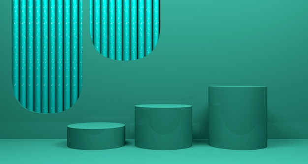 Glänzender abstrakter geometrischer bannerhintergrund. 3d-rendering.