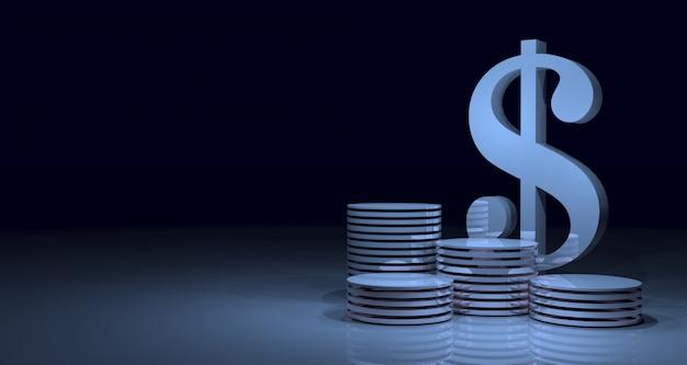 Glänzender abstrakter geometrischer finanz-banner-hintergrund. 3d-rendering.