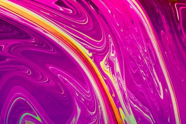 Glänzender gewellter rosa und gelber abstrakter hintergrund