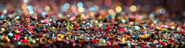 Glänzender mehrfarbiger glitzer