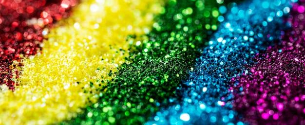 Glänzender regenbogenglitter