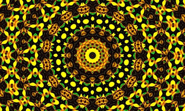 Glänzendes gelbes blumenkaleidoskop. sommer hintergrund. blumen. frühlings-hintergrund. natur-hintergrund. gelbe blumen.