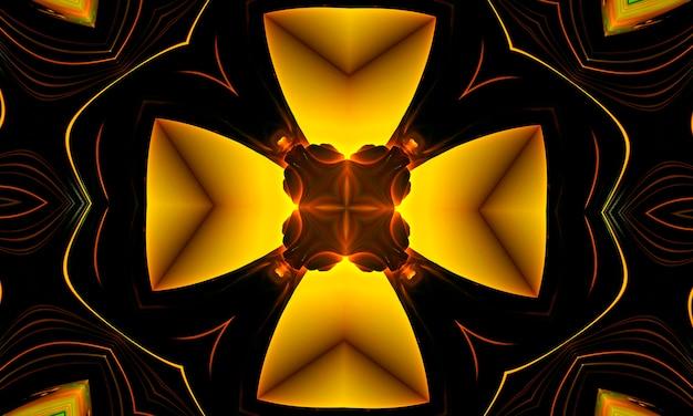 Glänzendes gelbes kreuz, jesus kirche religion glaube christentum zeichen, gelbes symbol logo symbol