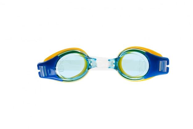Gläser für das schwimmen getrennt auf weiß