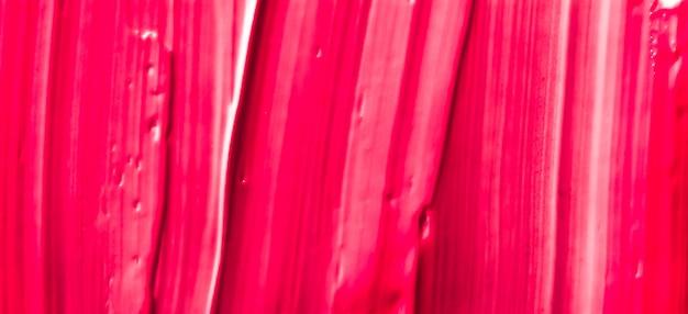 Glamour-branding und make-up-kunstkonzept rote kosmetische textur hintergrund-make-up und hautpflegekosmetik