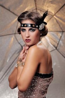 Glamour model ernster blick