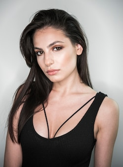 Glamouröse modell hautnah