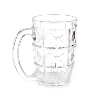 Glas blank weiß mit einem griff
