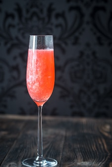 Glas champagnercocktail