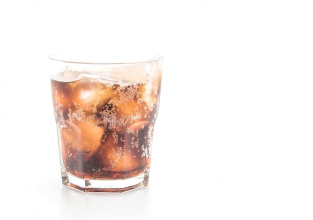 Glas cola mit eis