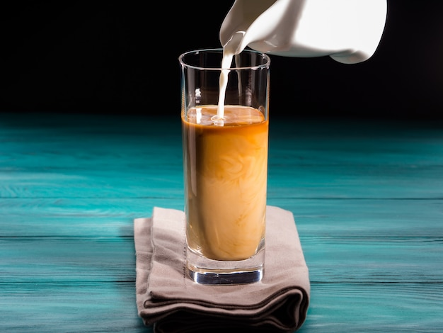 Glas eiskaffee