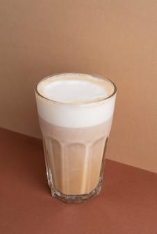 Glas frappekaffee