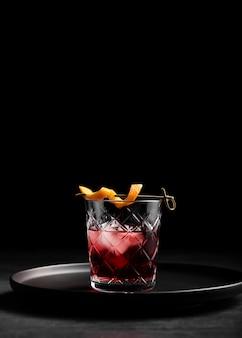 Glas frischer cocktailkopienraum