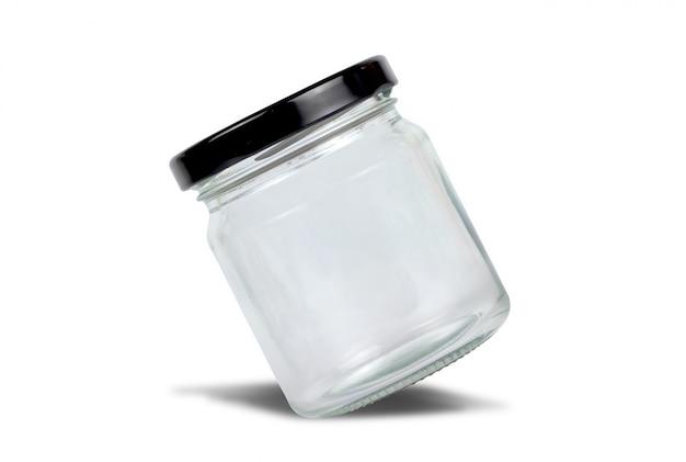 Glas getrennt auf weißem hintergrund mit ausschnittspfad