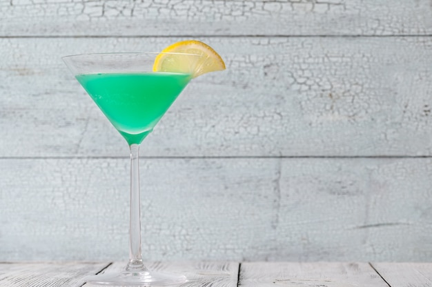 Glas grüner schraubendreher