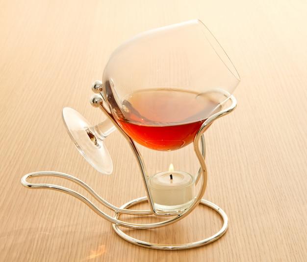 Glas heißer cognac