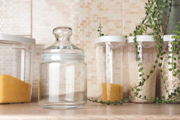 Glas keksdose mock-up transparentes glas mockup