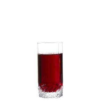 Glas kirschsaft. auf weißer wand isoliert