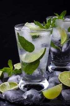 Glas mojito-cocktail