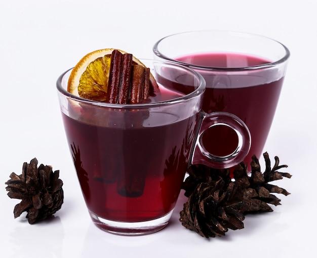 Glas rotwein
